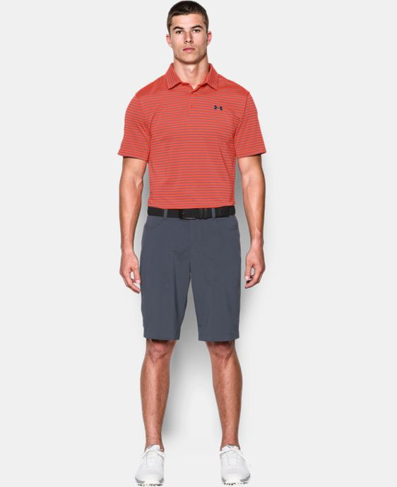 Men's UA coldblack® Address Stripe Polo  1 Color $44.99