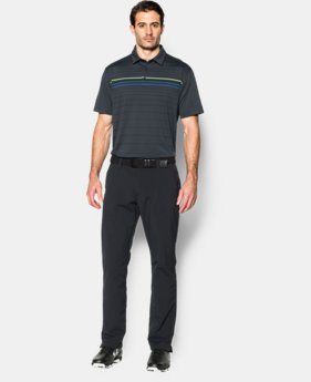 Men's UA coldblack® Engineered Stripe Polo  1 Color $44.99