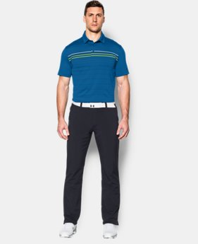 Men's UA coldblack® Engineered Stripe Polo LIMITED TIME: FREE SHIPPING  $84.99