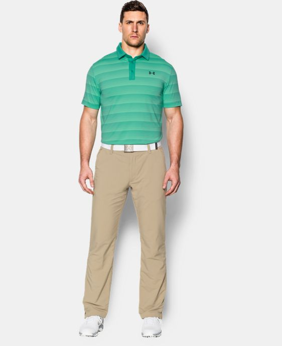 New Arrival  Men's UA coldblack® Chip In Stripe Polo   $79.99