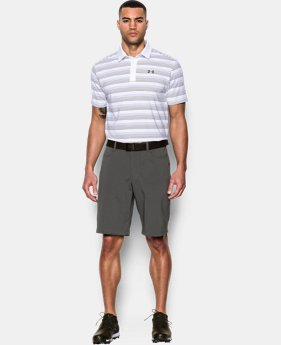 Men's UA coldblack® Ombre Stripe Polo LIMITED TIME: FREE SHIPPING  $44.99 to $59.99