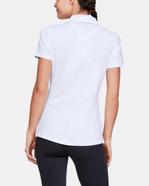 Polo UA Zinger à manches courtes pour femme, White, pdpMainDesktop image number 4