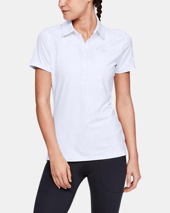 Polo UA Zinger à manches courtes pour femme, White, pdpMainDesktop image number 0