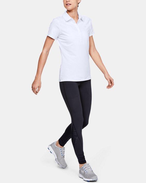Polo UA Zinger à manches courtes pour femme, White, pdpMainDesktop image number 3