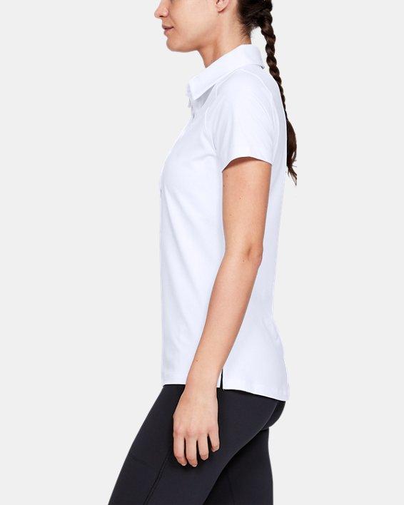 Polo UA Zinger à manches courtes pour femme, White, pdpMainDesktop image number 5