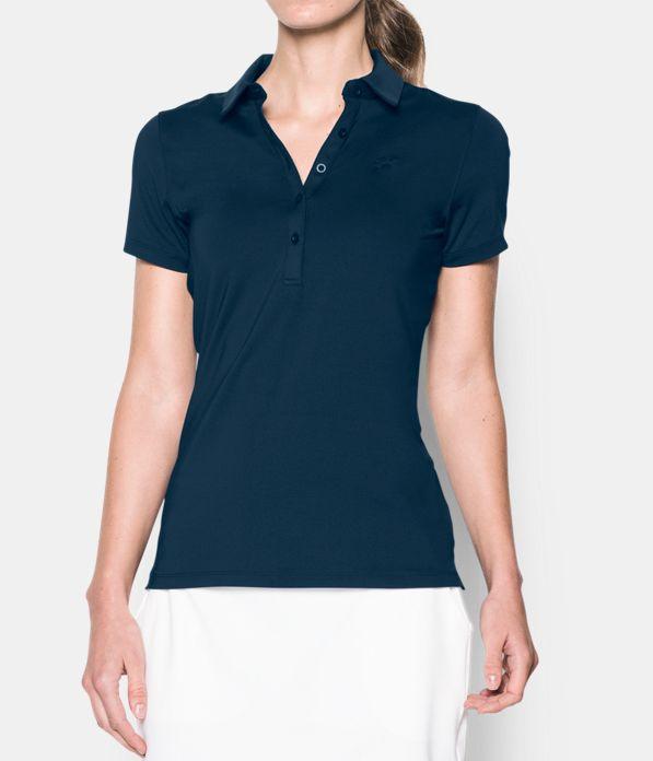 Women 39 s ua zinger short sleeve polo under armour us for Polo shirt girl addiction