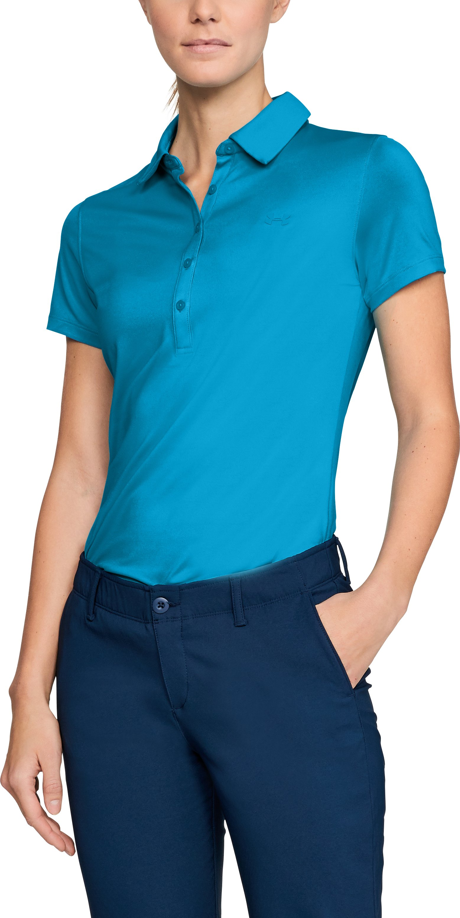 Women's UA Zinger Short Sleeve Polo, Capri