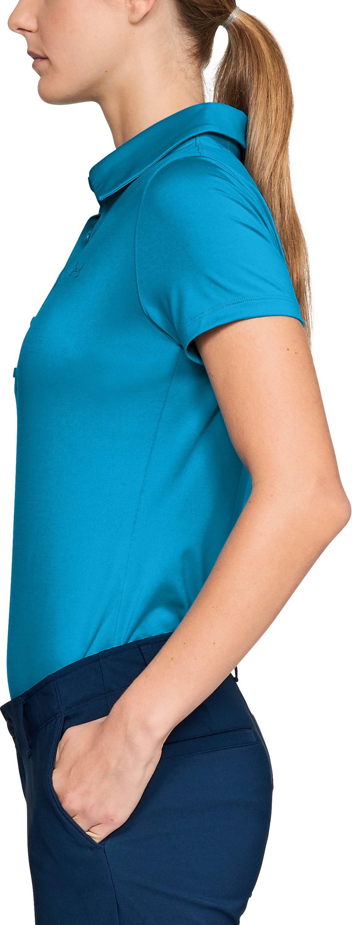 Women's UA Zinger Short Sleeve Polo, Capri,