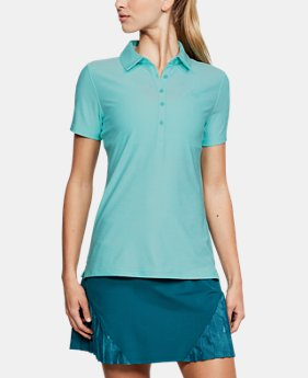 Best Seller Women's UA Zinger Short Sleeve Polo FREE U.S. SHIPPING 4  Colors Available $59.99