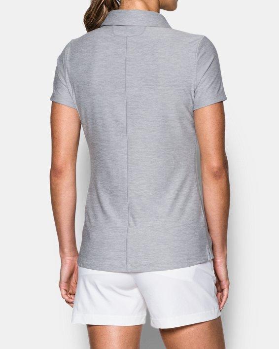Women's UA Zinger Short Sleeve Polo, Gray, pdpMainDesktop image number 2