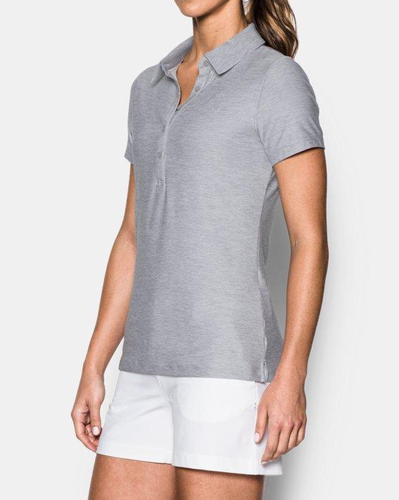 Women's UA Zinger Short Sleeve Polo, Gray, pdpMainDesktop image number 1