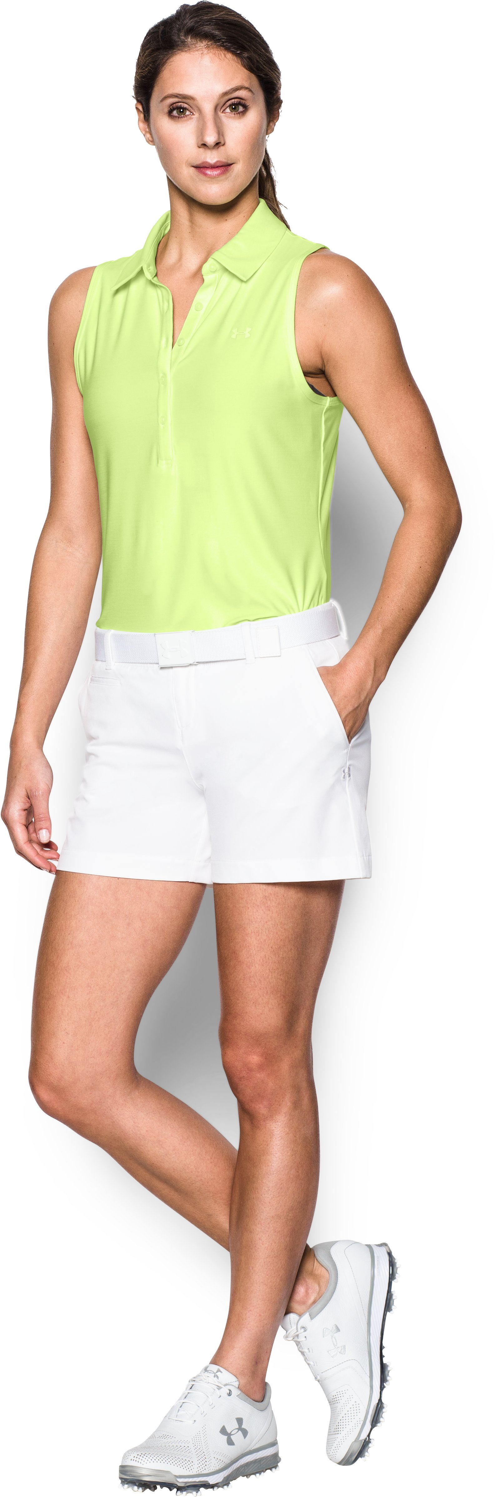 Women's UA Zinger Sleeveless Polo, PALE MOONLIGHT