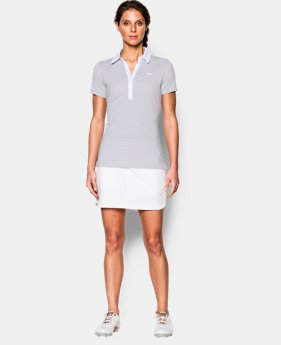Best Seller Women's UA Zinger Stripe Short Sleeve Polo   $64.99