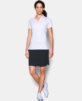 New Arrival Women's UA Zinger Stripe Short Sleeve Polo  3 Colors $34.49 to $36.74