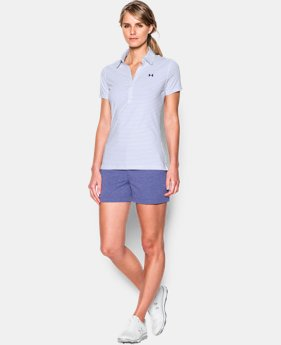 New Arrival Women's UA Zinger Stripe Short Sleeve Polo  2 Colors $45.99 to $48.99