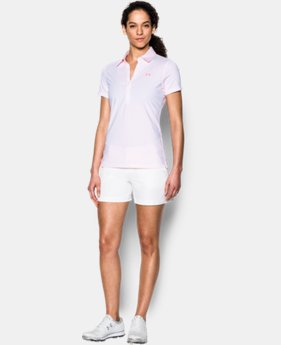 New Arrival Women's UA Zinger Stripe Short Sleeve Polo  1 Color $45.99