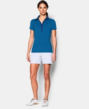 New Arrival  Women's UA Zinger Stripe Short Sleeve Polo  1 Color $74.99