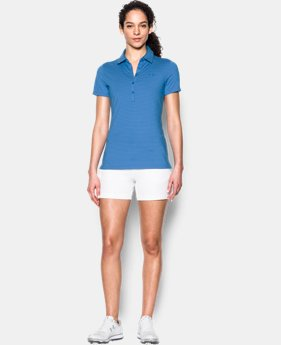 New Arrival Women's UA Zinger Stripe Short Sleeve Polo  1 Color $34.49 to $36.74