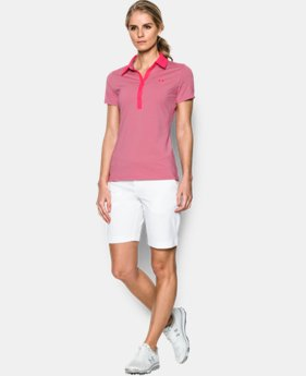 Women's UA Zinger Stripe Short Sleeve Polo