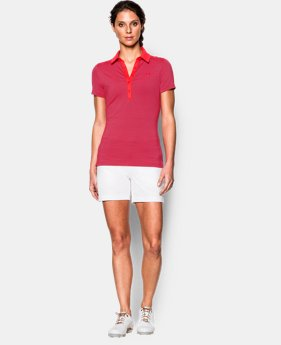 Women's UA Zinger Stripe Short Sleeve Polo LIMITED TIME: FREE SHIPPING 1 Color $64.99
