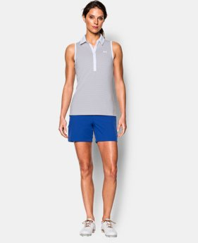 Best Seller Women's UA Zinger Stripe Sleeveless Polo  2 Colors $59.99