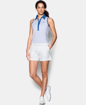 New Arrival Women's UA Zinger Stripe Sleeveless Polo   $35.99 to $44.99
