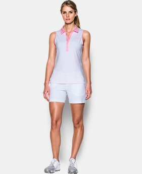 New Arrival Women's UA Zinger Stripe Sleeveless Polo  2 Colors $33.74