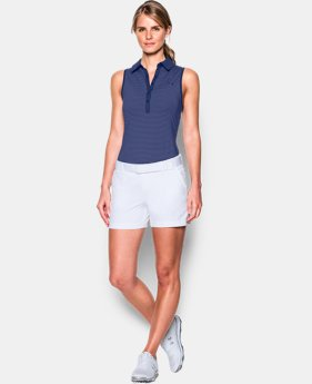 New Arrival Women's UA Zinger Stripe Sleeveless Polo  2 Colors $35.99 to $44.99