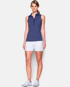 New Arrival Women's UA Zinger Stripe Sleeveless Polo  1 Color $35.99 to $44.99