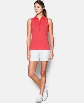 New Arrival Women's UA Zinger Stripe Sleeveless Polo  1 Color $35.99