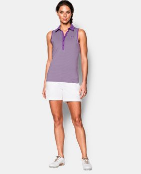 Best Seller Women's UA Zinger Stripe Sleeveless Polo  1 Color $59.99