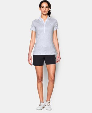 Best Seller Women's UA Zinger Printed Short Sleeve Polo LIMITED TIME: FREE U.S. SHIPPING 1 Color $64.99