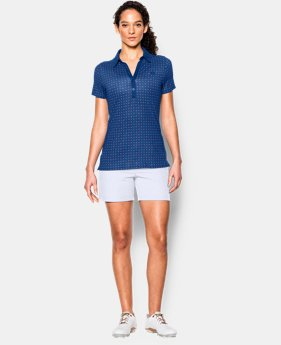 Best Seller Women's UA Zinger Printed Short Sleeve Polo LIMITED TIME: FREE SHIPPING 1 Color $64.99