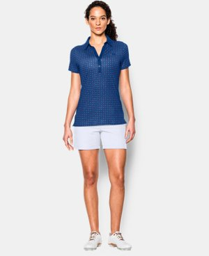 Women's UA Zinger Printed Short Sleeve Polo  1 Color $56.99