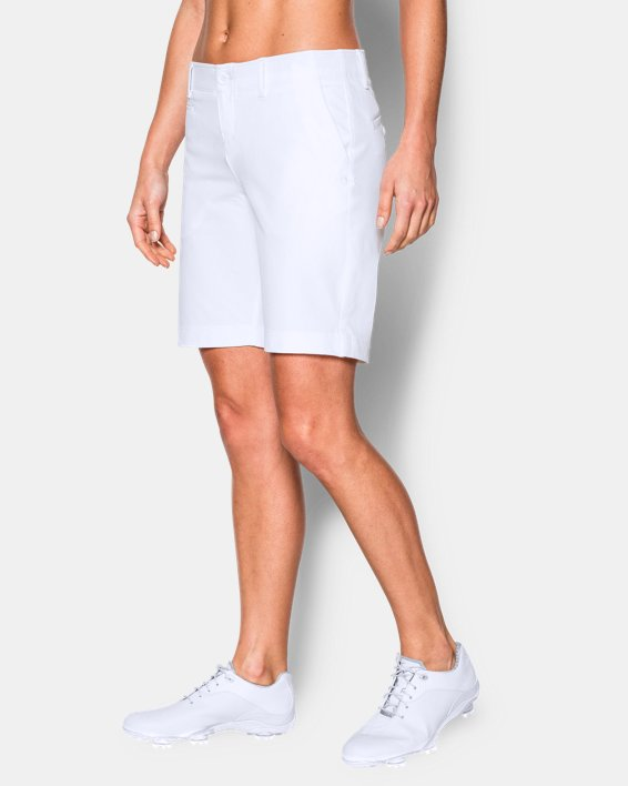 """Women's UA Links 9"""" Shorts, White, pdpMainDesktop image number 0"""