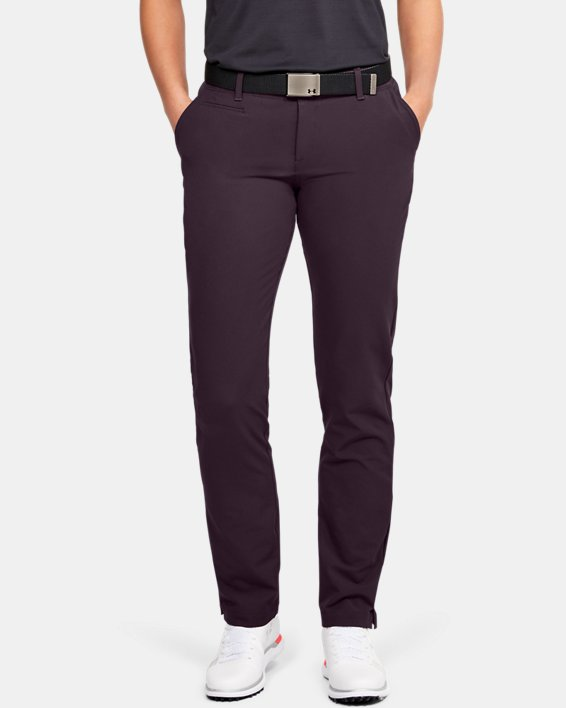 Women's UA Links Pants, Purple, pdpMainDesktop image number 0