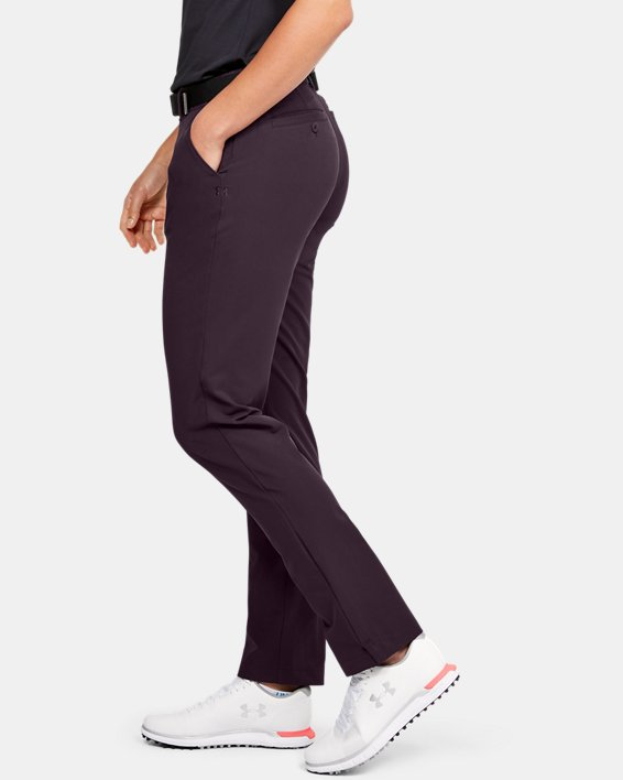 Women's UA Links Pants, Purple, pdpMainDesktop image number 3