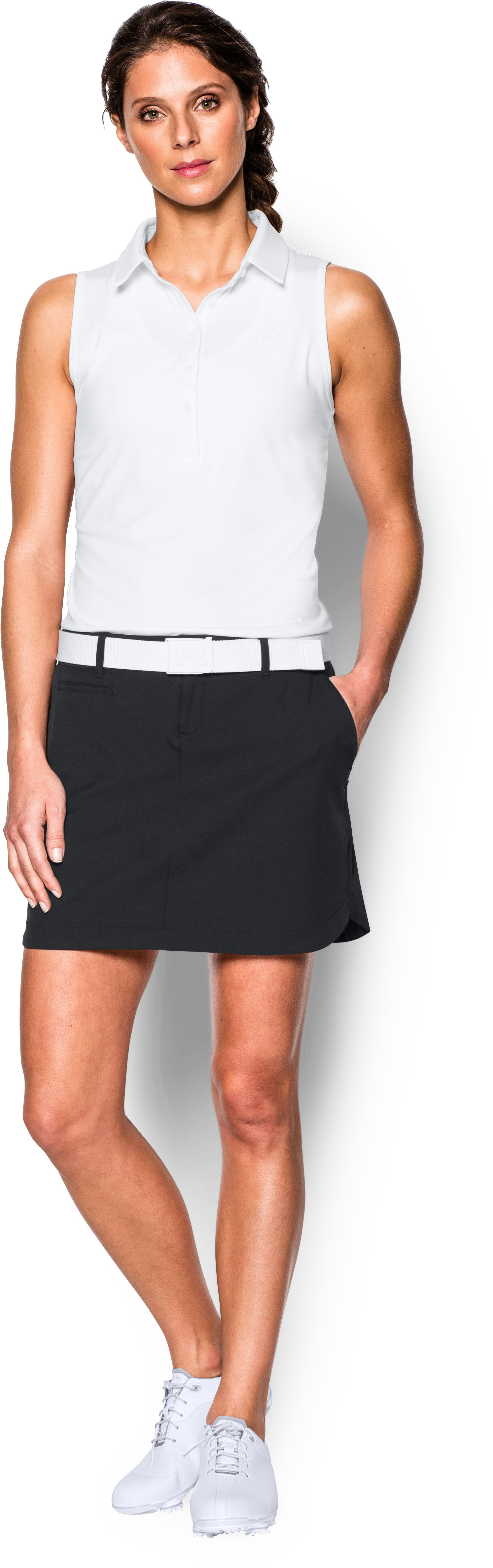 Women's UA Links Skort, Black , Front