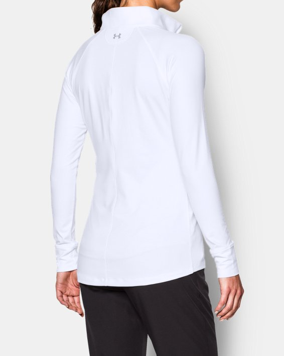 Women's UA Zinger ¼ Zip, White, pdpMainDesktop image number 2