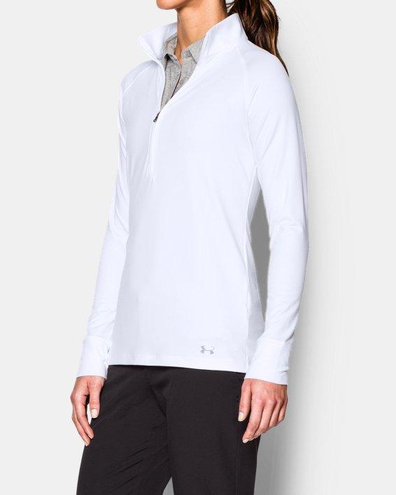 Women's UA Zinger ¼ Zip, White, pdpMainDesktop image number 1