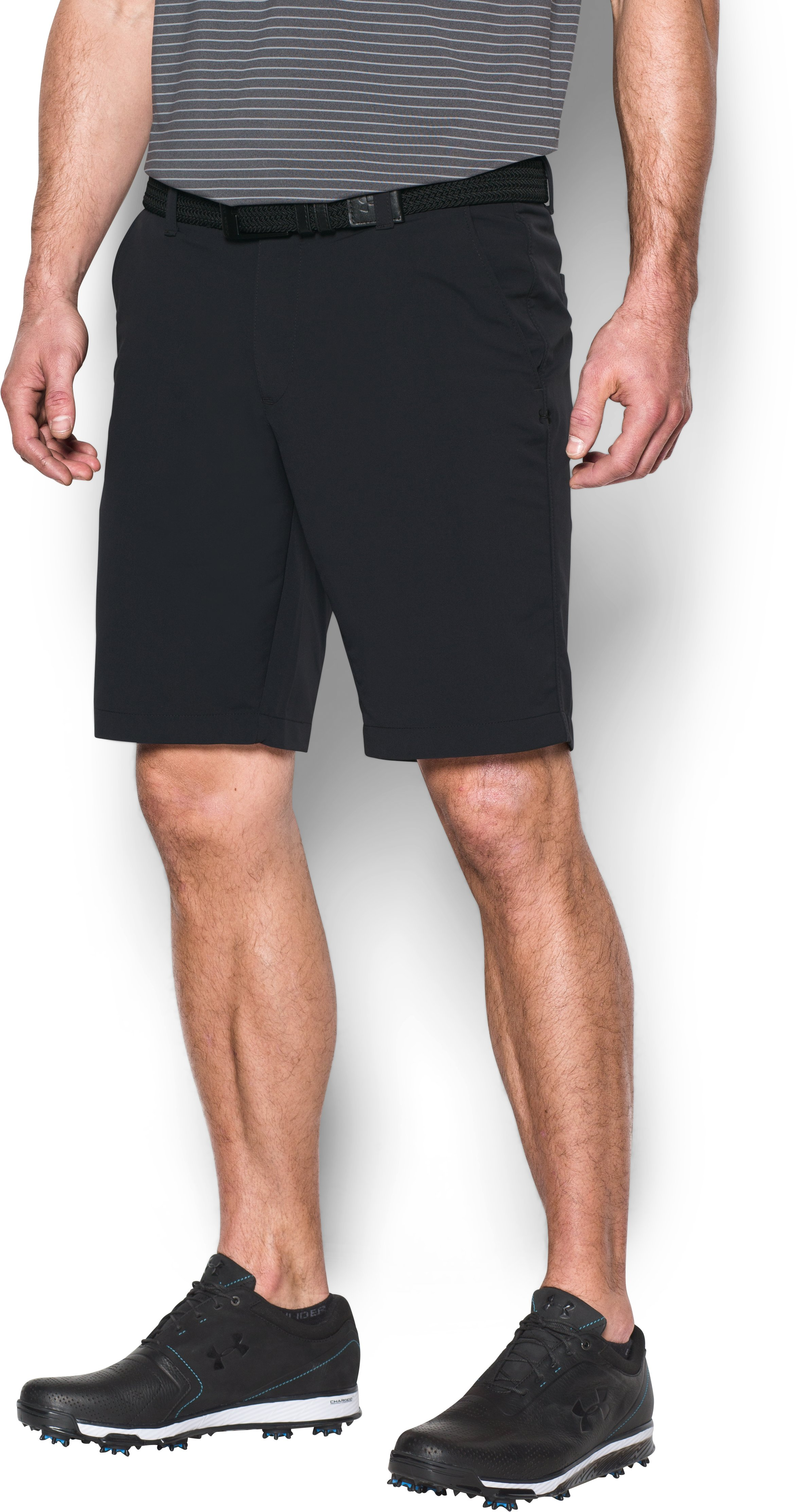 Men's UA Match Play Tapered Shorts, Black