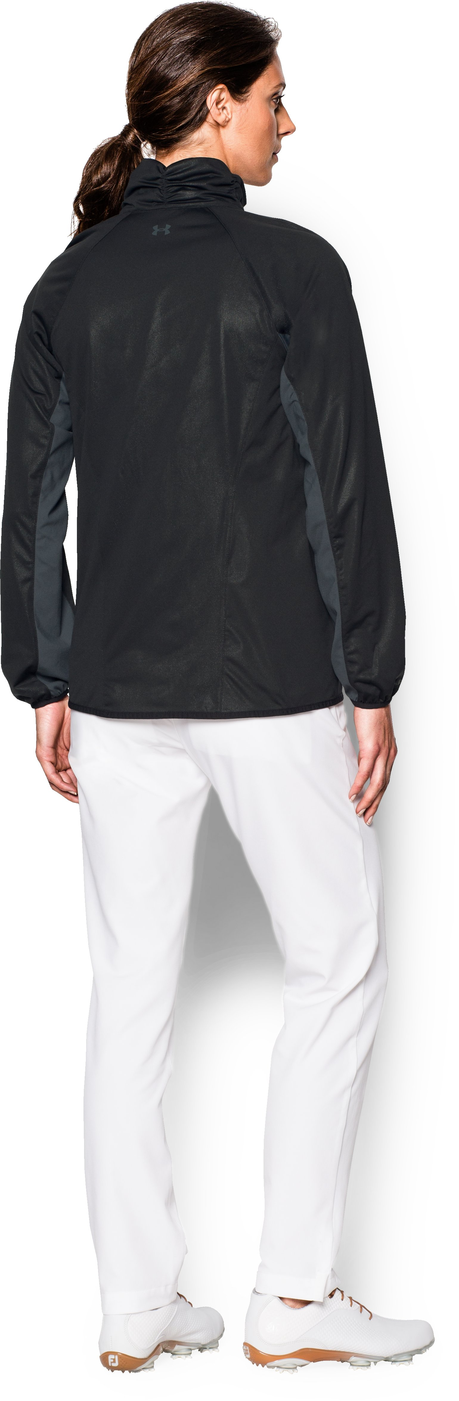 Women's UA Storm Golf Jacket, Black , Back