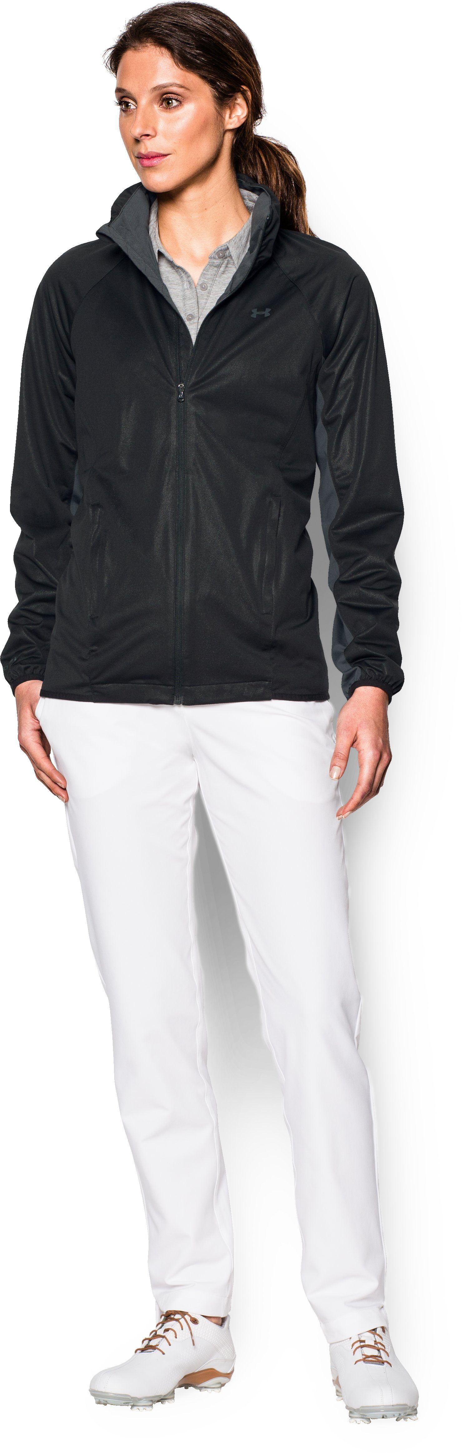 Women's UA Storm Golf Jacket, Black , Front