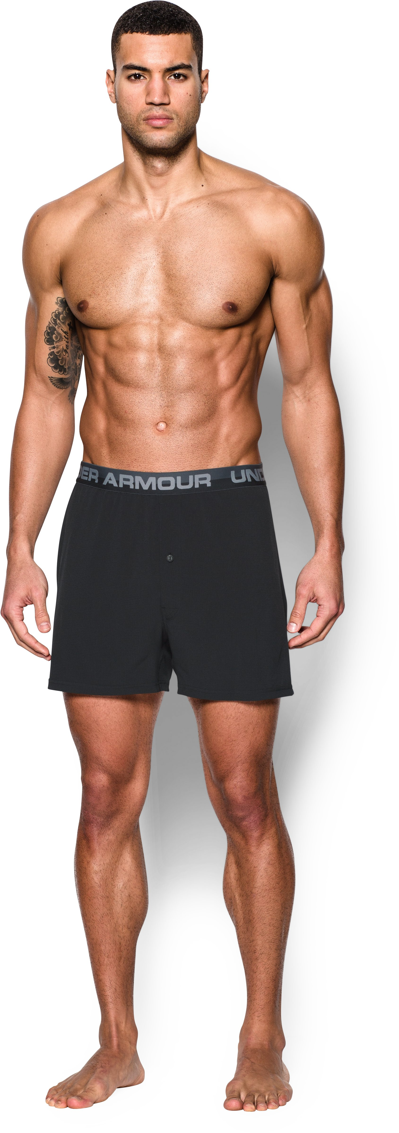 Men's UA ArmourVent™ Series Boxer Shorts, Black
