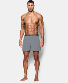 "New Arrival Men's UA ArmourVent™ Series 6"" Boxer Shorts   $25"