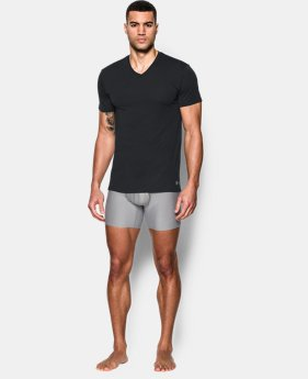 New Arrival  Men's UA Core V-Neck Undershirt – 2-Pack  2 Colors $44.99