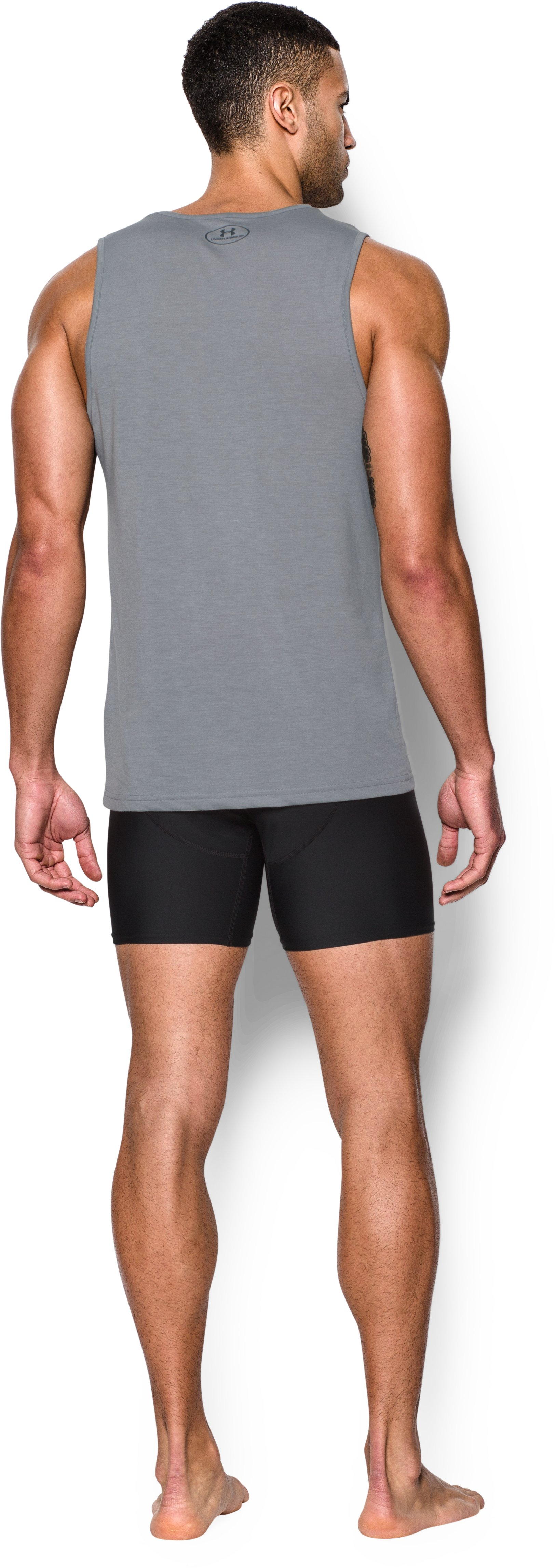 Men's UA Core Tank Undershirt – 2-Pack, True Gray Heather, Back