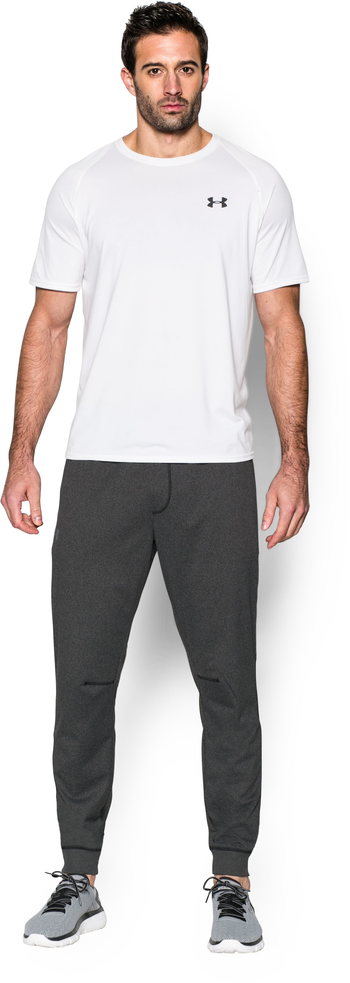 Men's UA Sportstyle Jogger Pants, Asphalt Heather, Front