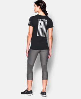 New Arrival Women's UA Freedom Flag T-Shirt LIMITED TIME: FREE SHIPPING 1 Color $29.99