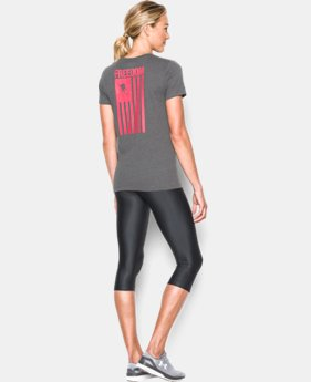 New Arrival Women's UA Freedom Flag T-Shirt LIMITED TIME: FREE SHIPPING 2 Colors $29.99